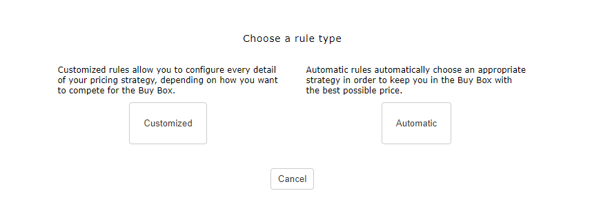 Automatic Pricing Rules