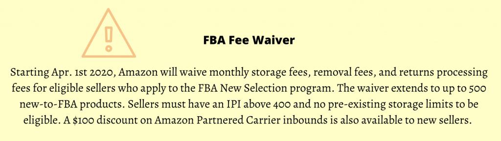 Image: Fee waiver