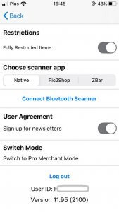 Image: Switch to Pro from Settings