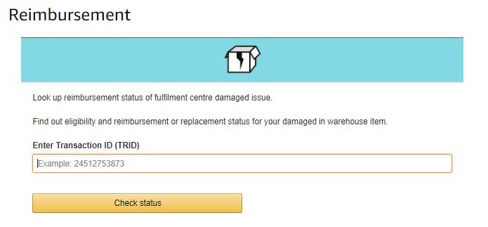 Image: Look up reimbursement status