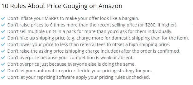 Image: Price Gouging Rules
