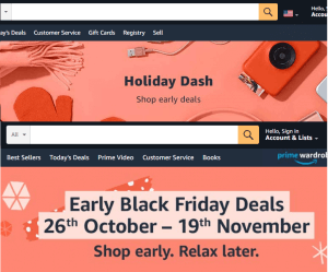 Image: Holiday Dash and Early BFCM Deals