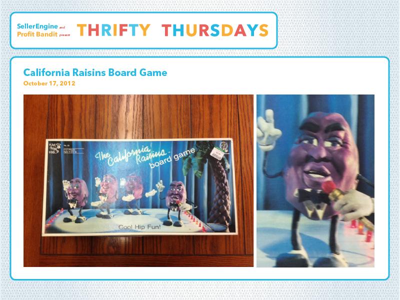 California Raisins Board Game
