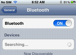 turn on Bluetooth on iphone