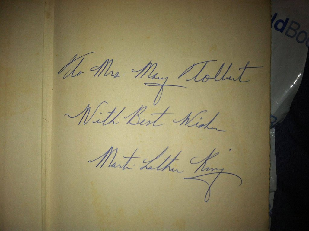 Martin Luther King Inscription