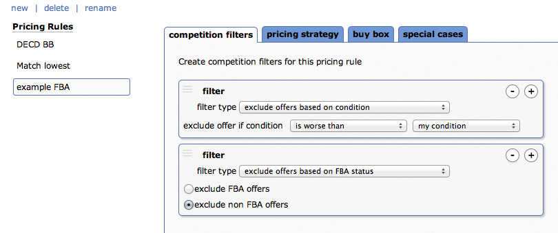 Competition Filters