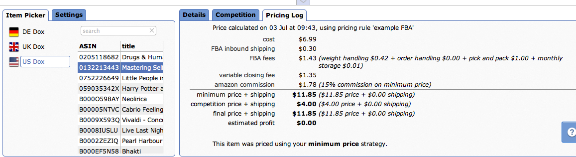 Pricing Rule Preview
