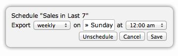 Scheduling an Export