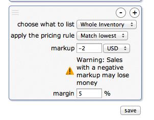 Uh-oh! Negative Markup