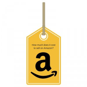 Price tag with Amazon logo