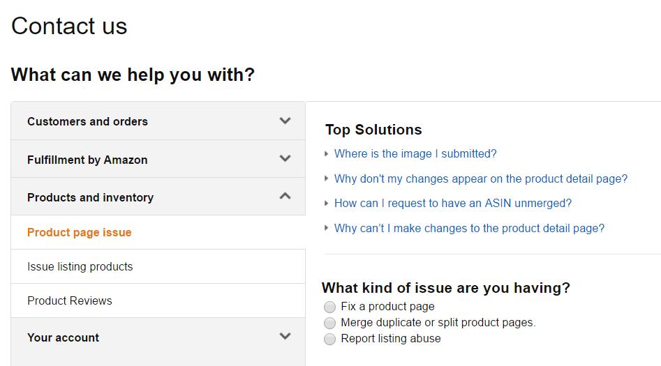 Contact Amazon seller