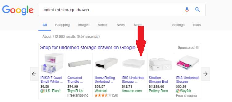 Amazon product listing ads